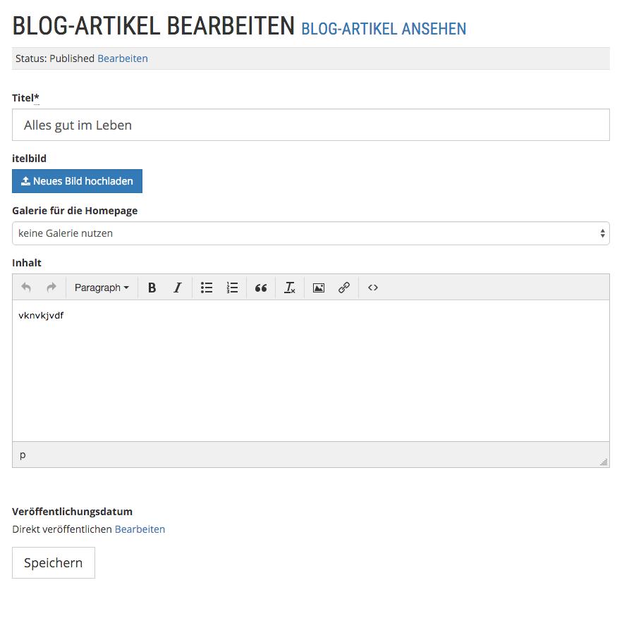 Blog-Artikel bearbeiten